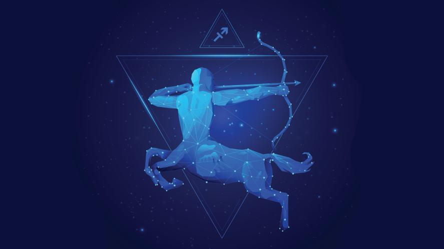The Sagittarius symbol of the archer