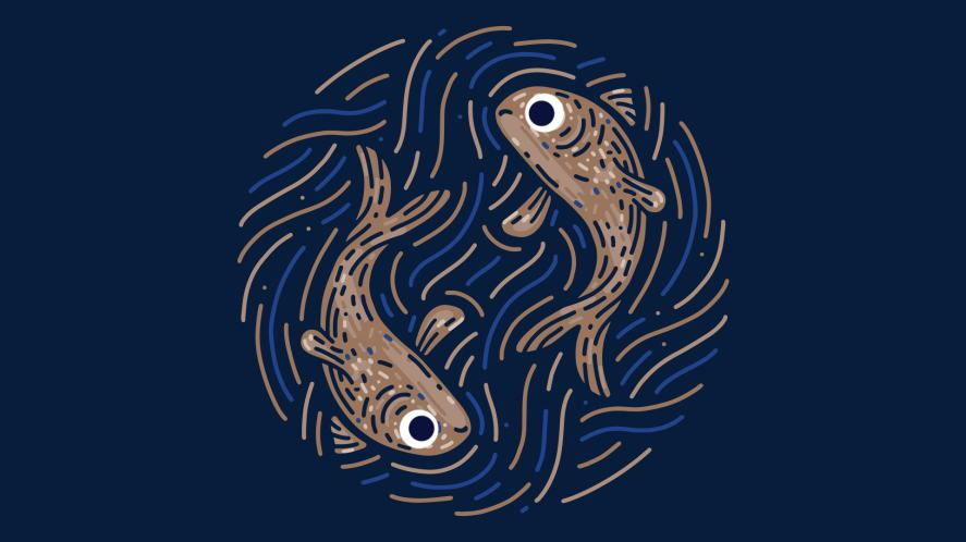 The symbol for Pisces