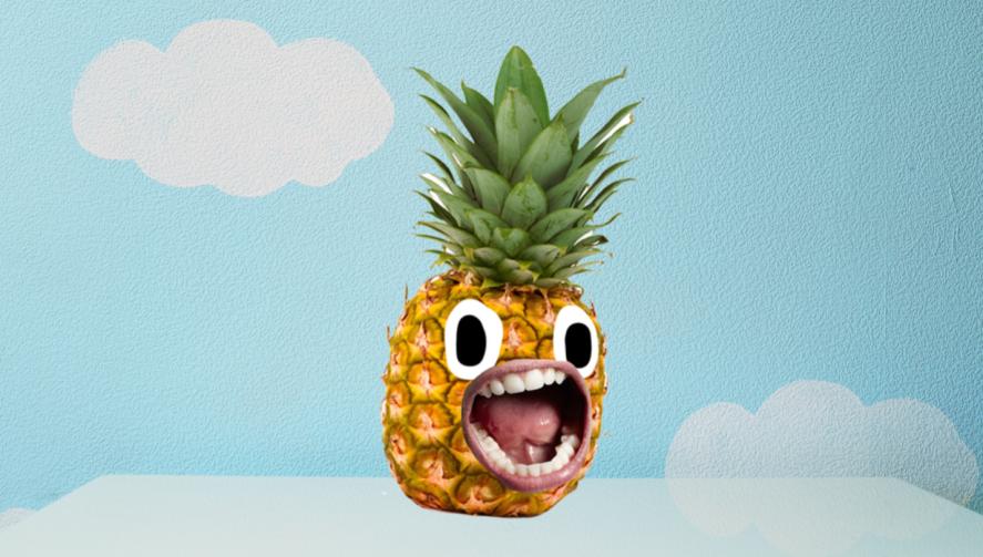 A pineapple in a nursery