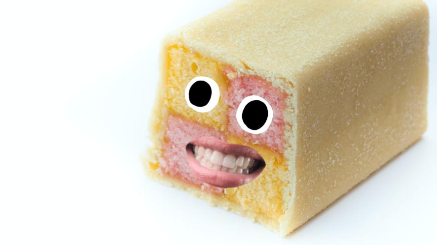 A cake made of marzipan and sponge