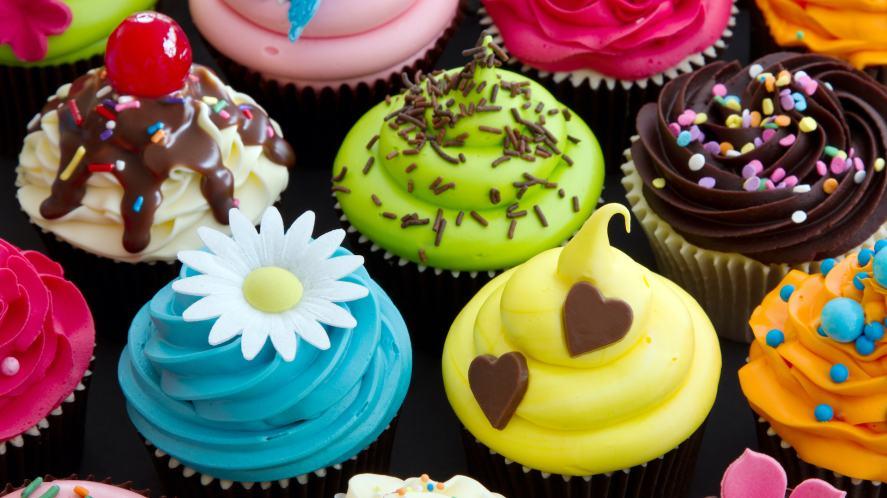 A selection of delicious cupcakes