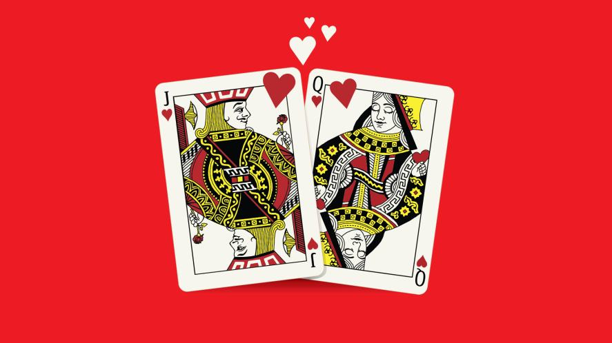 Two playing cards