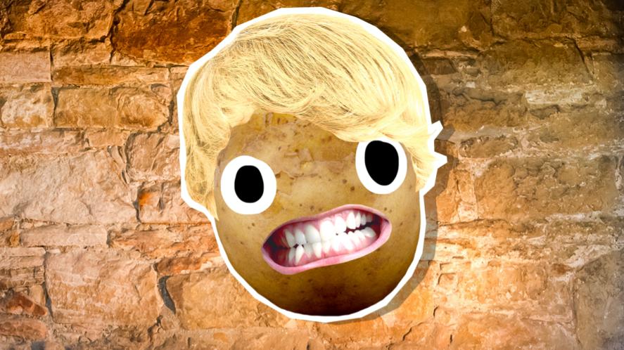 A potato dressed as Draco Malfoy