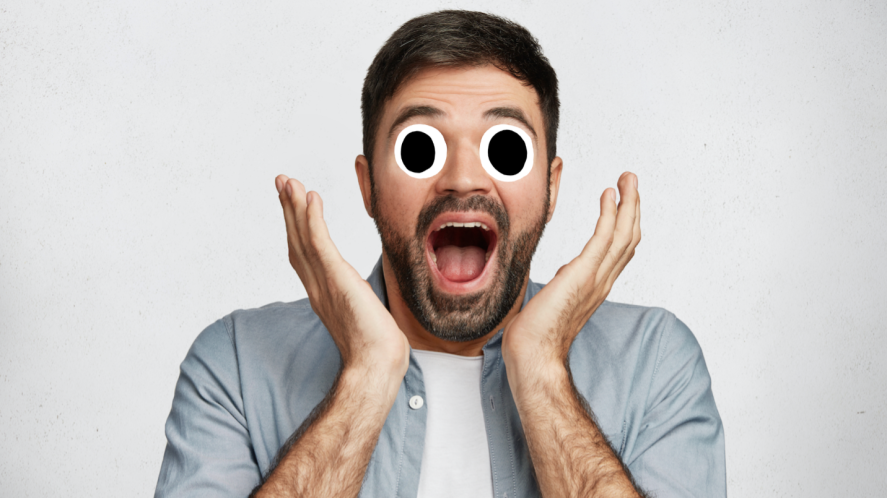 A fun person looking surprised