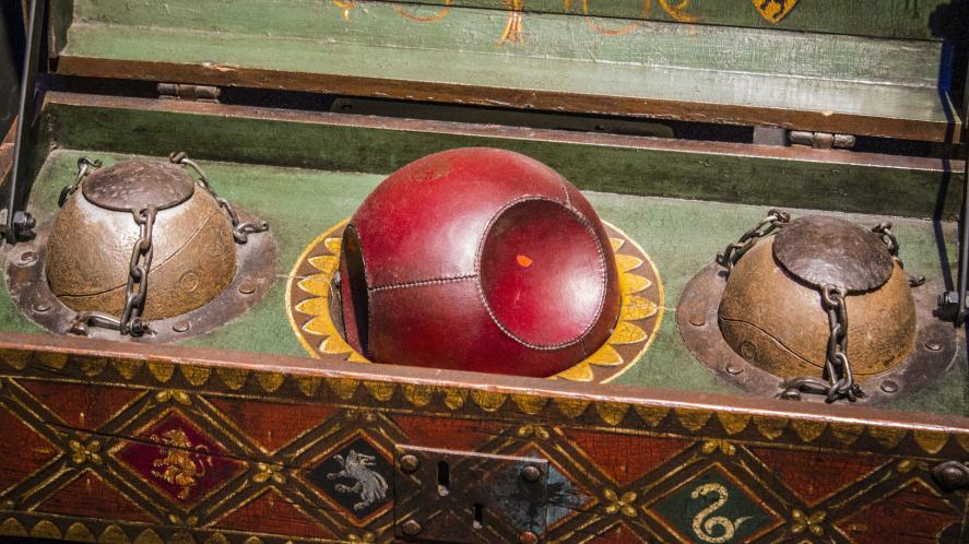 Quidditch balls at the Warner Brothers Studio tour, The Making of Harry Potter