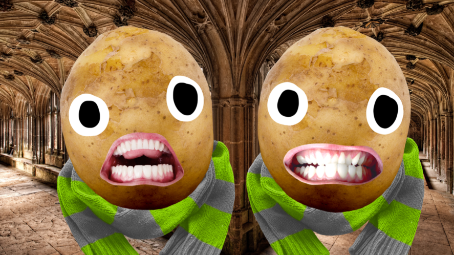 Two potatoes up to no good