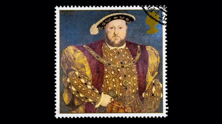 A stamp featuring Henry VIII