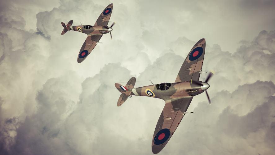 RAF Spitfire fighter planes