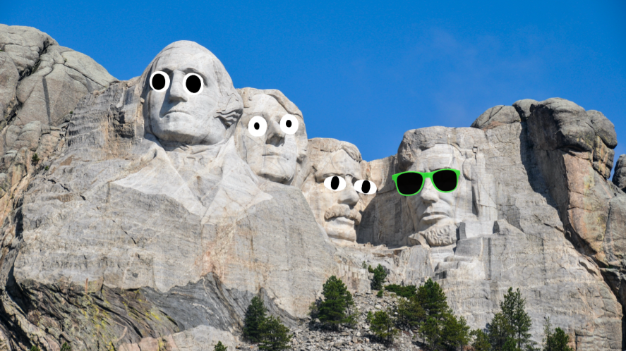 US Presidents carved into Mount Rushmore