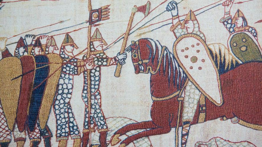 Detail of the Bayeux Tapestry, depicting the Battle of Hastings