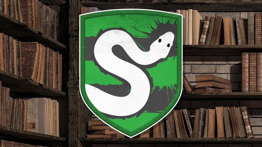 The Slytherin badge