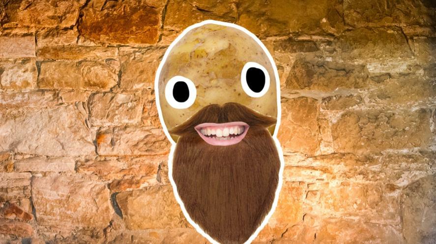A bearded potato