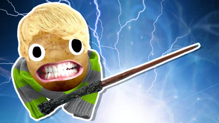 A potato which looks like Draco Malfoy