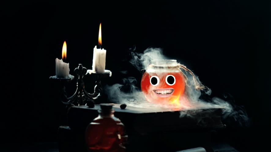 A jar of a magical potion