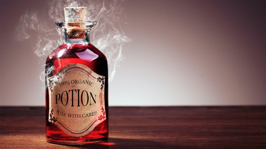A bottle of fancy potion