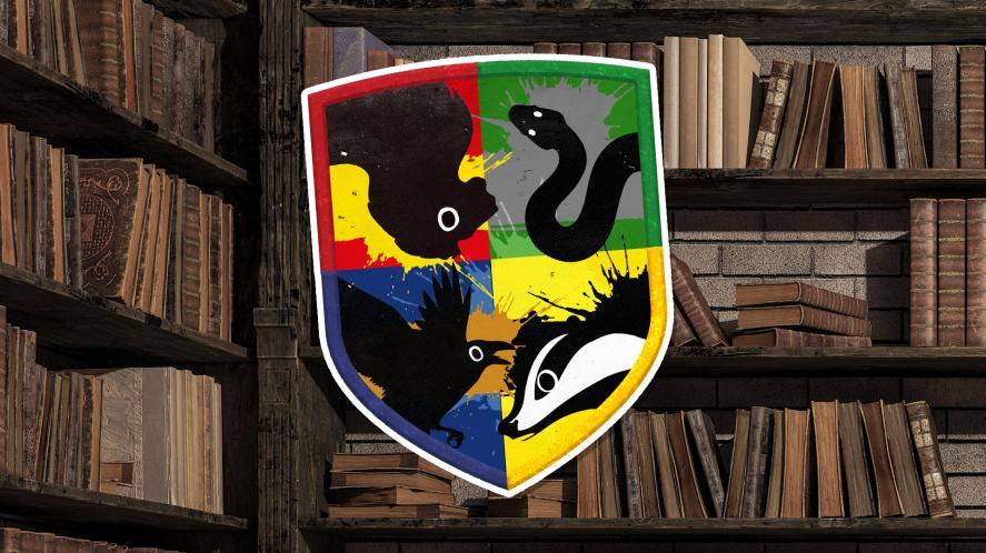 A Hogwarts shield