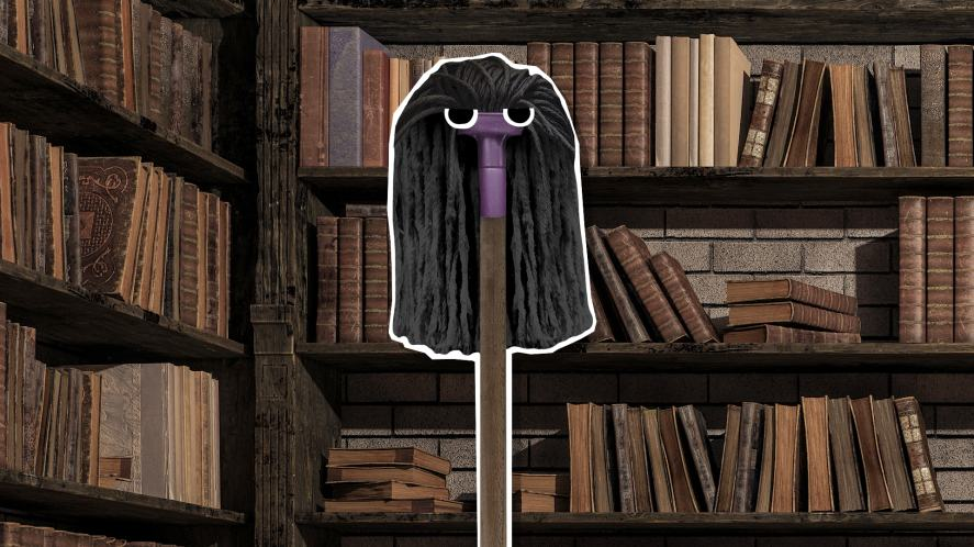 Snape in a library