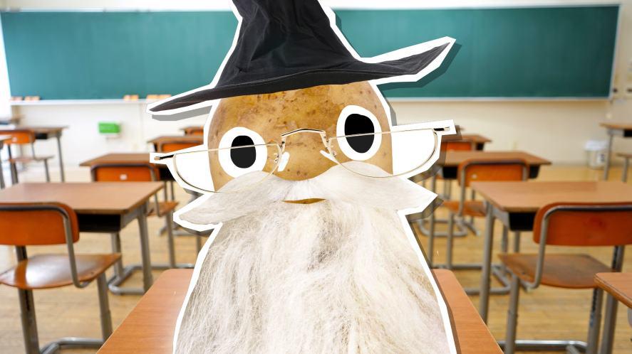 Dumbledore in a classroom