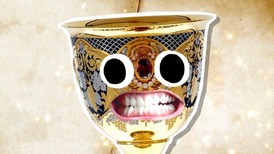 A golden chalice