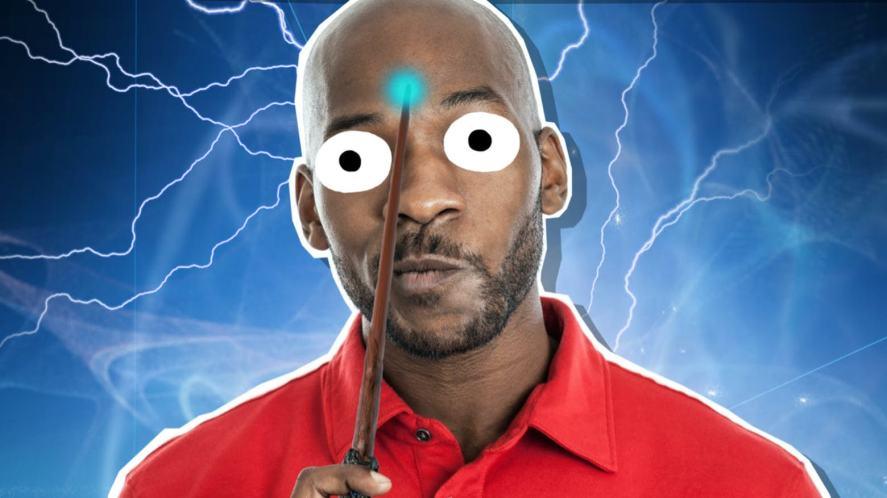 A bald wizard