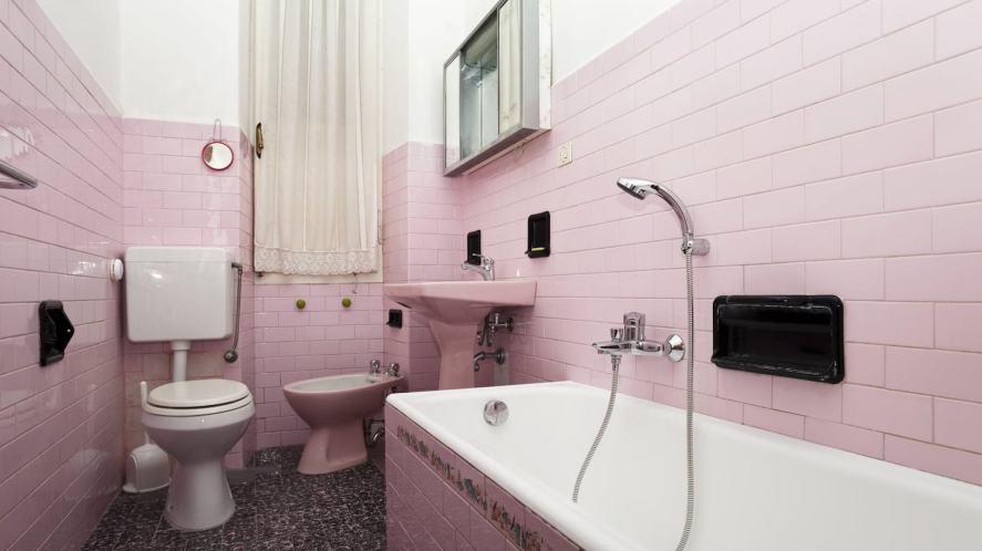 A pink bathroom