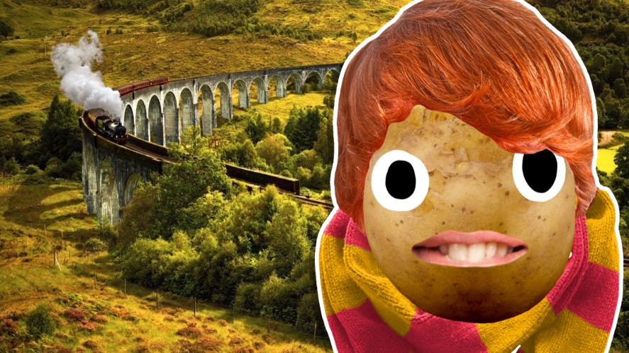 Ron next to a railway