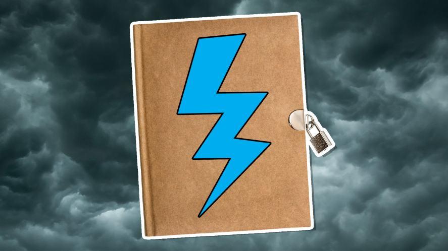 A padlocked diary