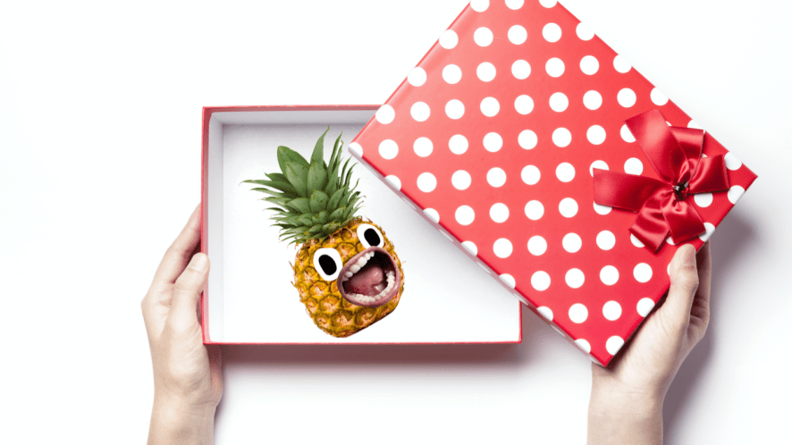 A surprise pineapple