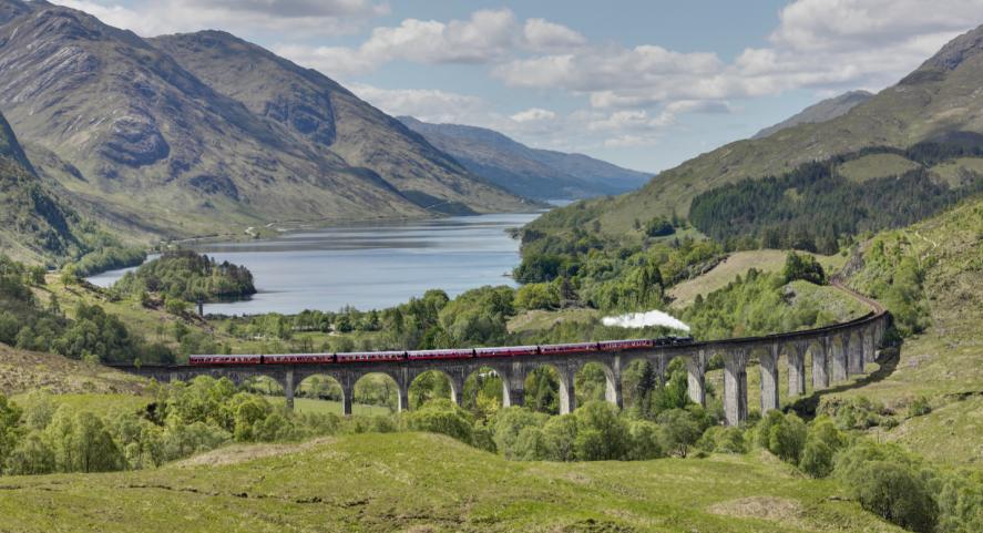A train on a bridge