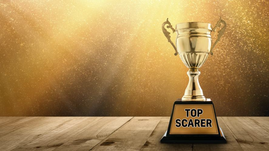 A trophy for 'top scarer'