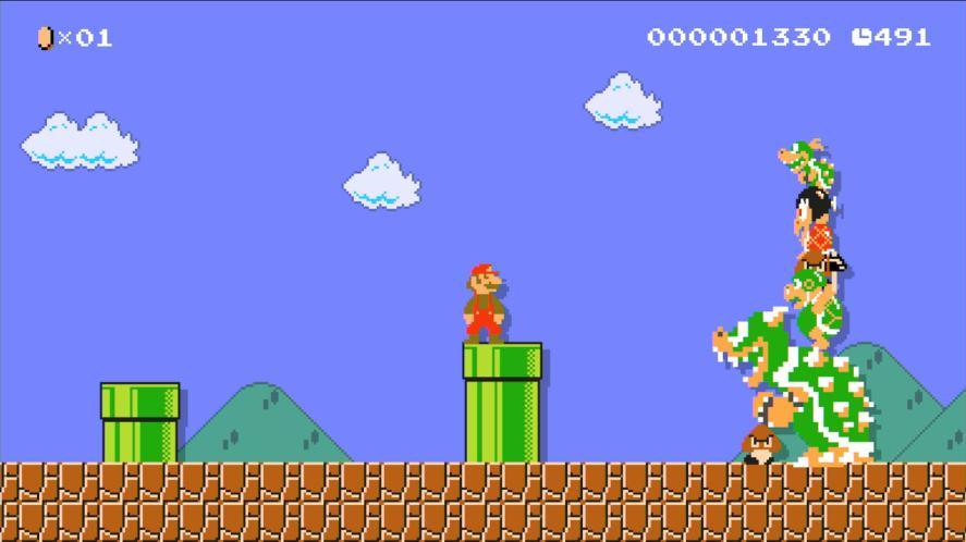 A Super Mario screen shot