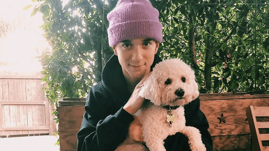 Daniel Seavey and a dog