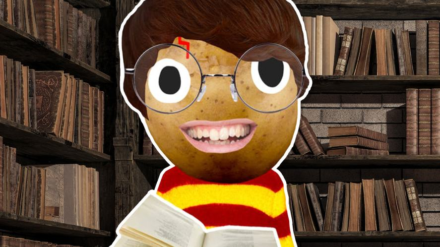 Harry Potte rin a library