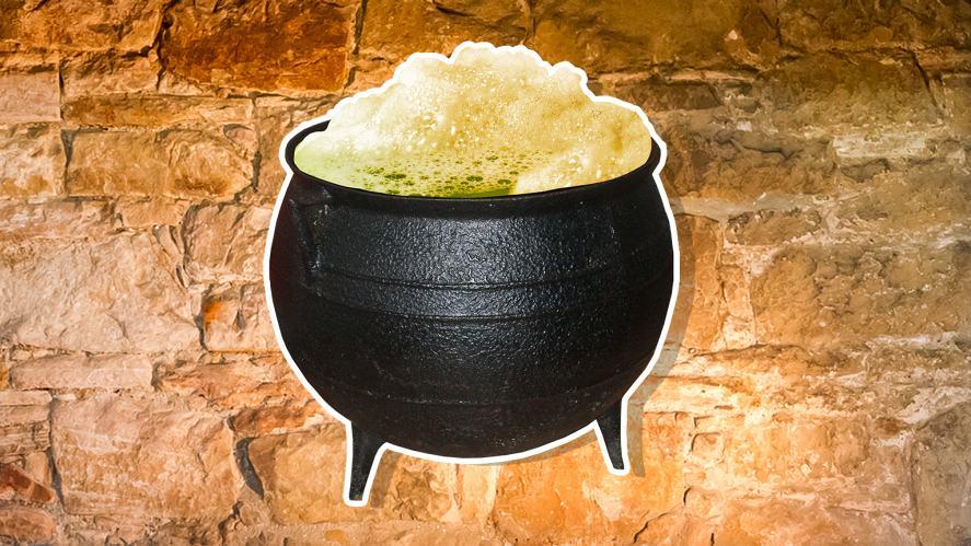 A bubbling cauldron