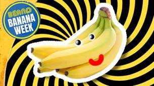 Funny banana jokes: a banana with a face