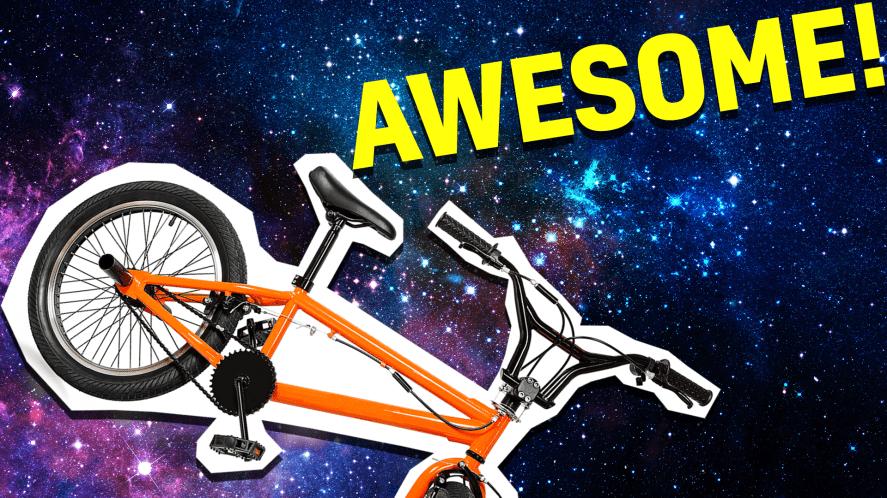 Bike on space background