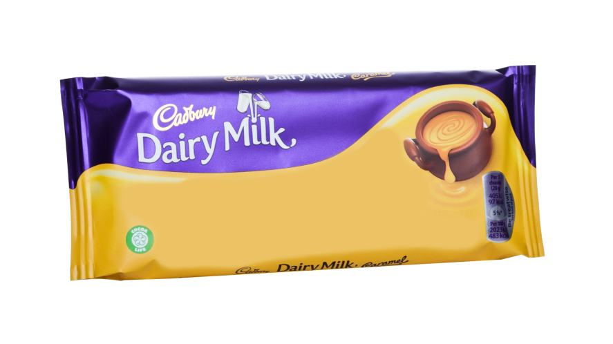 A chocolate bar wrapper