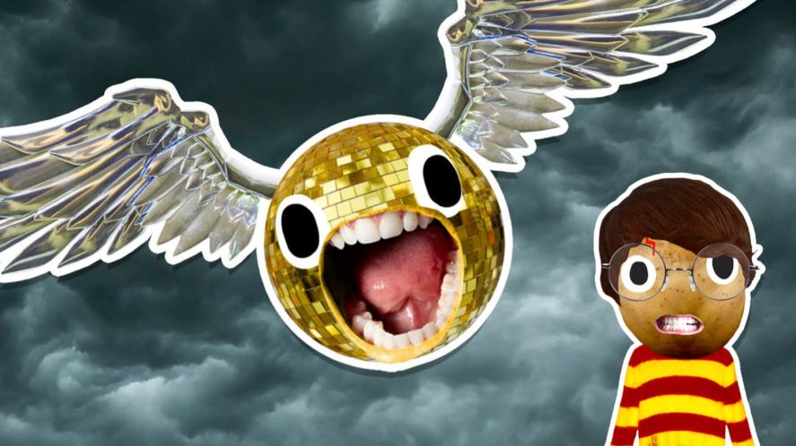 A shouting Golden Snitch