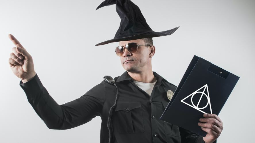 A wizard police officer