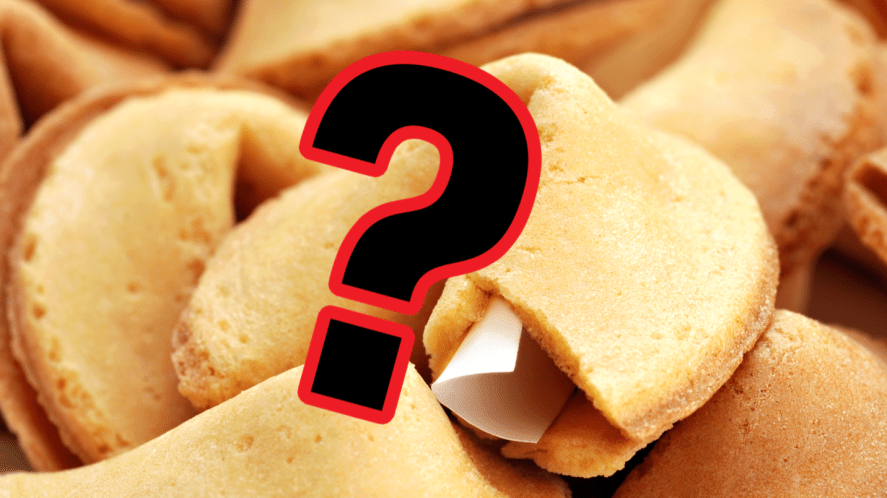 Fortune cookies and question mark