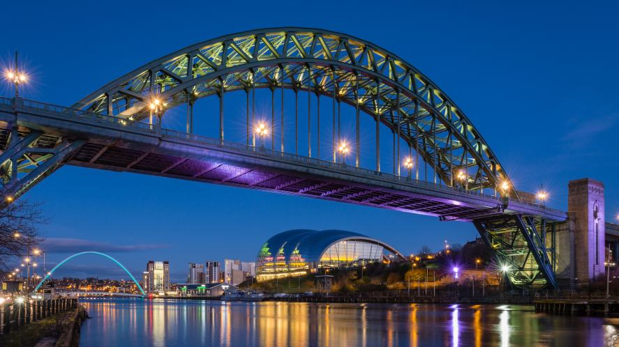 A bridge in the north east of England