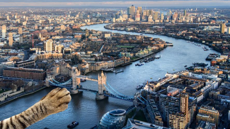 A London river