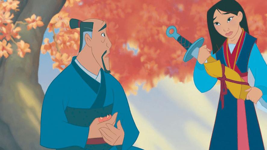 Mulan and her dad