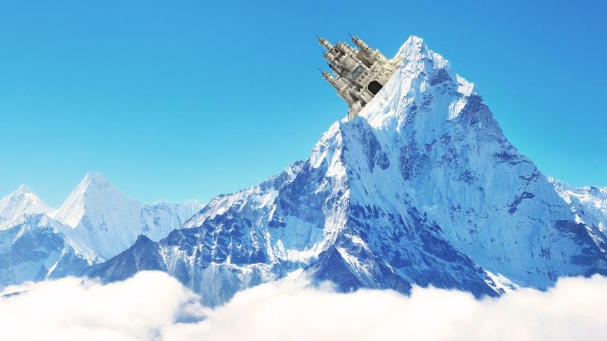 Ilvermorny Castle on a big mountain