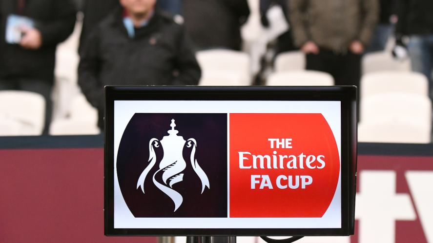 FA Cup sign at a football match