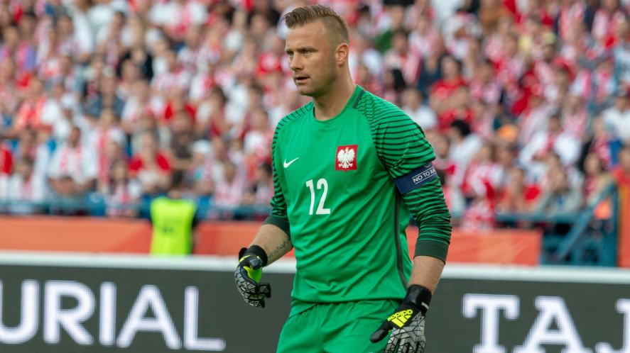 Artur Boruc in goal for Poland