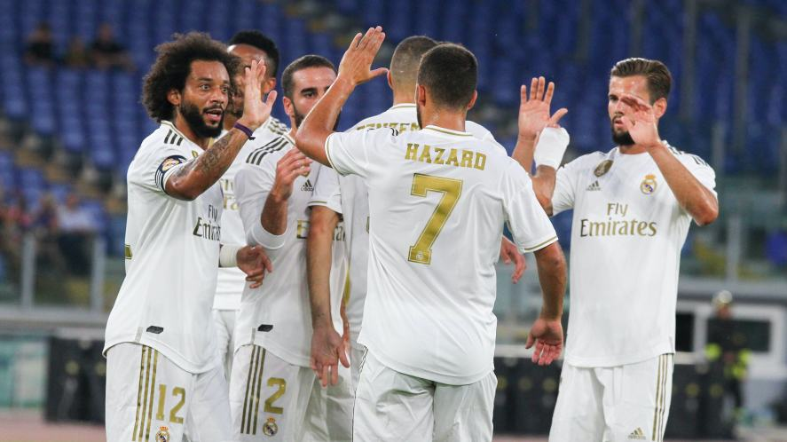 Real Madrid during a 2019 game