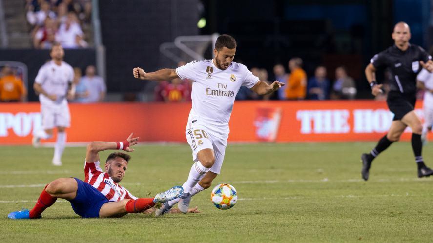 Eden Hazard during game against Atletico Madrid