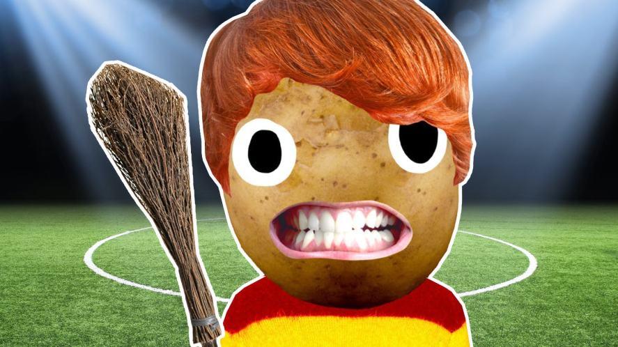 Ron Weasley at a Quidditch match
