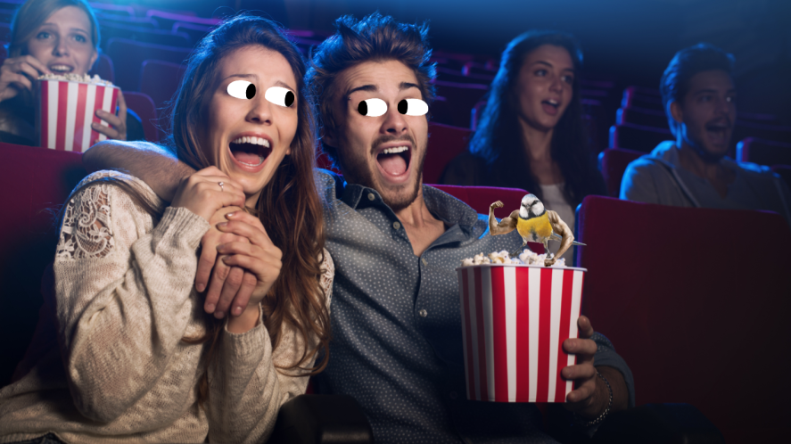 A couple at the cinema